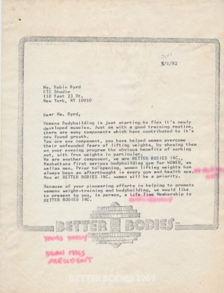Letter to Robin Byrd